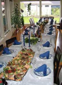Dekket bord med smørbrød