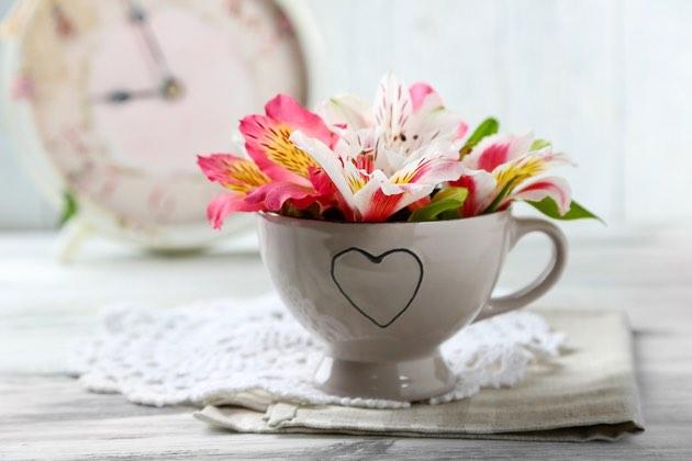 Blomster i kopp