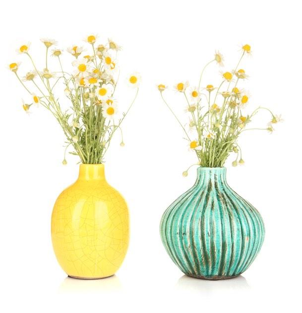 To blomstervaser